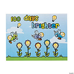 "Make-A-""100 Days Brighter"" Sticker Scenes"