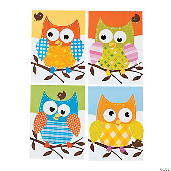 "Make-A-""100 Days Smarter"" Owl Sticker Scenes"
