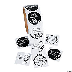 Black & White Wedding Roll Stickers