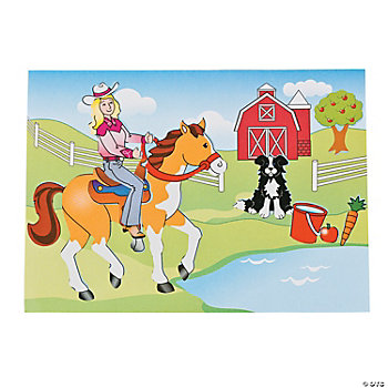 Make-A-Horse Sticker Scenes