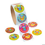 Owl 100 Days of School Smarter Roll of Stickers