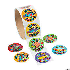 """Sweet Success"" Roll of Stickers"