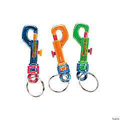 Transparent Belt Clip Key Chains