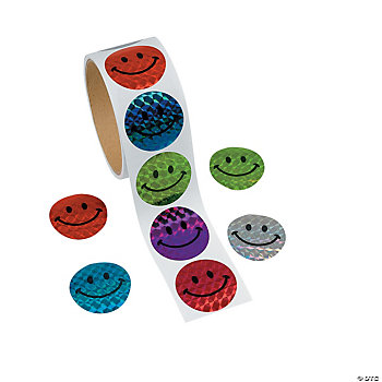 Laser Smile Face Stickers