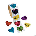 Laser Smile Face Heart Roll Stickers
