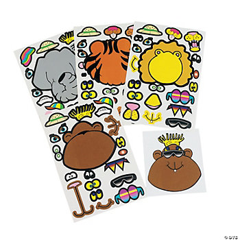 Make Your Own Zoo Animal Stickers