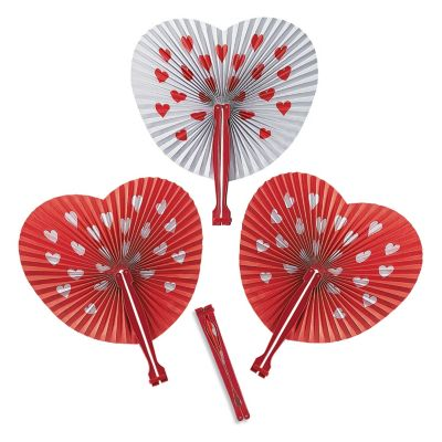Quickview · Image Of Valentine Folding Hand Fans With Sku:9/681