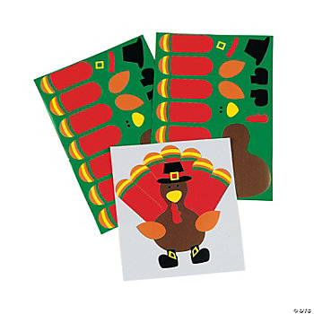 Make-A-Turkey Stickers