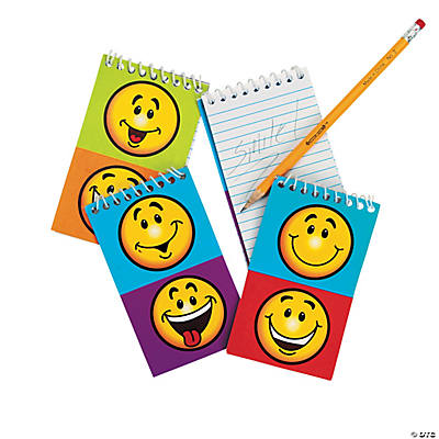 Smile Face Spiral Notepads