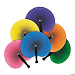 Paper Solid Color Folding Fans