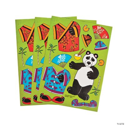 Dress-a-Panda Stickers
