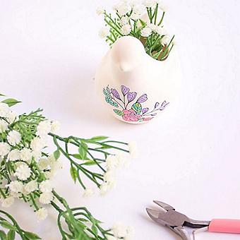 DIY Floral Bird Planter