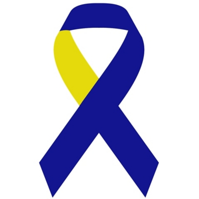 Blue & Yellow Ribbon