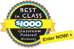 Best in Class $1,000 Classroom Pinterest Giveaway
