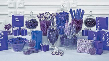Party Supplies   Purple Candy Buffet