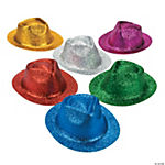 Adult Glitter Fedora Assortment