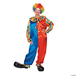 Adult's Colorful Clown Costume