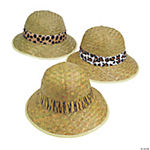 Adult's Pith Helmets with Animal Print Band