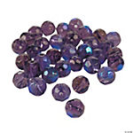 Amethyst Aurora Borealis Cut Crystal Round Beads - 8mm