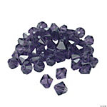 Amethyst Crystal Bicone Beads - 8mm