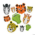 Animal Face Self-Adhesive Shapes