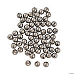 Antique Silvertone Round Beads - 6mm