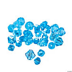 Aquamarine Crystal Bicone Beads - 4mm-6mm