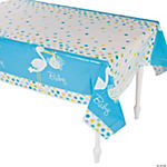 Baby Boy Stork Tablecloth
