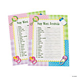 """Baby Word Scramble"" Baby Shower Game"