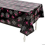 Black & Pink Halloween Tablecloth