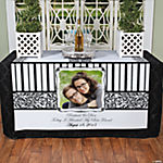 Black & White Custom Photo Table Runner