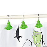 Black & White Floral Bathroom Collection Shower Curtain Hooks