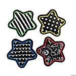 Black & White Pattern Star Cutouts