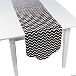 Black Chevron & Polka Dot Table Runner