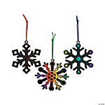 Black Magic Color Scratch Snowflake Christmas Ornaments