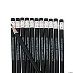 Black Personalized Pencils
