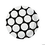Black Polka Dot Dinner Plates