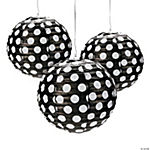 Black Polka Dot Paper Lanterns
