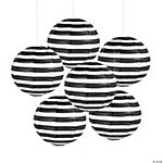 Black Striped Paper Lanterns