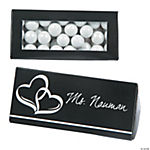 Black Wedding Place Card Favor Boxes