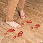 Bloody Footprints Floor Clings