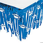 Blue Congrats Grad Table Skirt