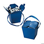 Blue Glitter Take Out Boxes