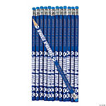 Blue Paw Pride Personalized Pencils