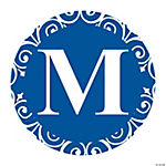 Blue Personalized Monogram Favor Stickers
