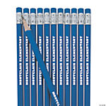 Blue Personalized Pencils