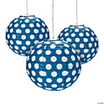 Blue Polka Dot Paper Lanterns