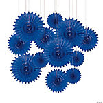 Blue Tissue Hanging Fans