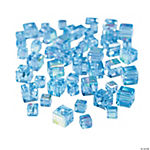 Blue Topaz Cube AB Cut Crystal Beads - 4mm-6mm