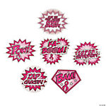 Breast Cancer Awareness Superhero Word Cutouts